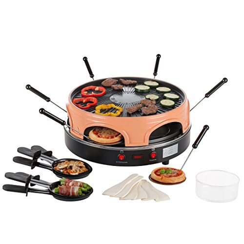 ultratec pizzarette raclette ofen f r bis zu 6 personen nutzbar als raclette oder backofen. Black Bedroom Furniture Sets. Home Design Ideas